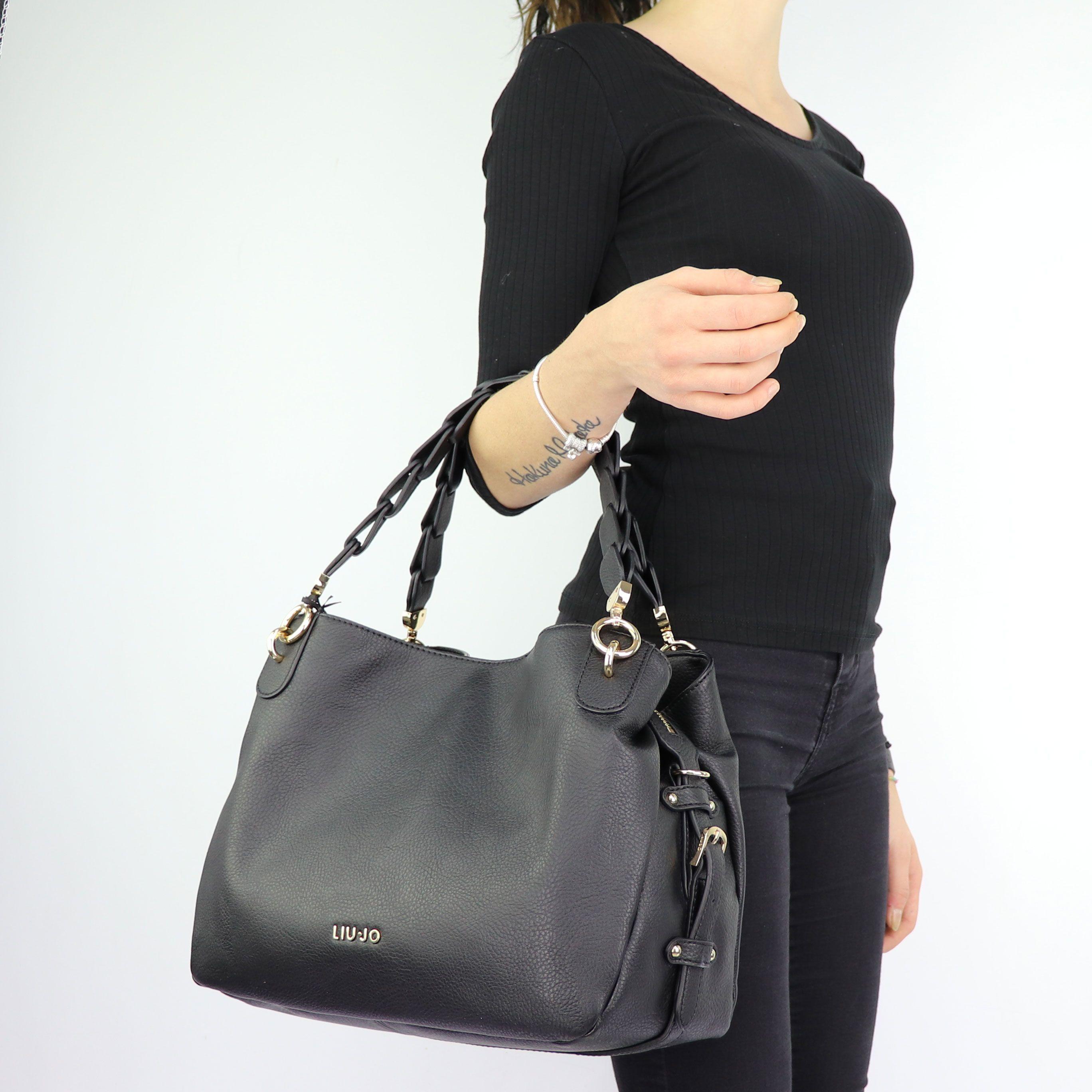 Bag satchel and shoulder Barona Liu Jo black size M A68134