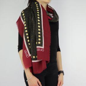 Scarf Liu Jo 110X110 Milano red bordeaux A68249 T0300
