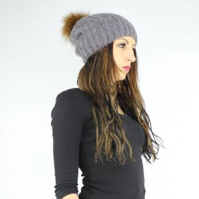 Hat sequins pompon Liu Jo grey A68261 M0300