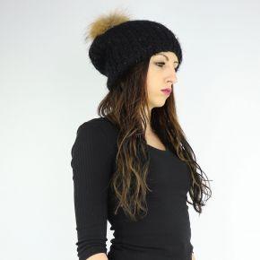 Hat sequins pompon Liu Jo black A68261 M0300