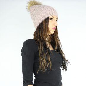 Cappello paillettes ponpon Liu Jo rosa antico A68261 M0300