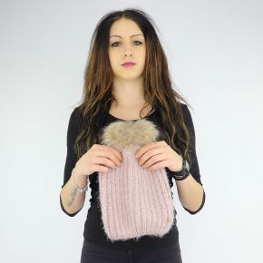 Hat sequins pompon Liu Jo pink A68261 M0300