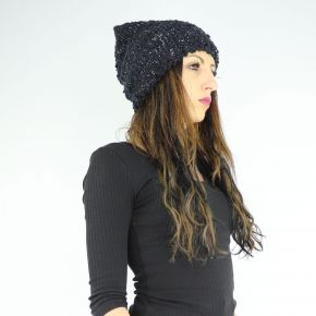 Hat boucle sequined Liu Jo black A68282 M0300
