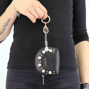 Portachiave Liu Jo nero con perle N68038 E0037