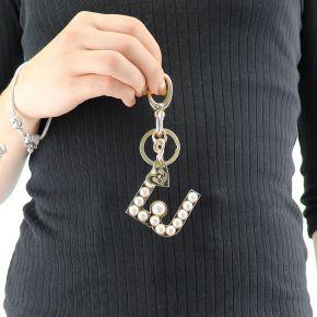 Portachiave Liu Jo dorato con perle N68229 A0001