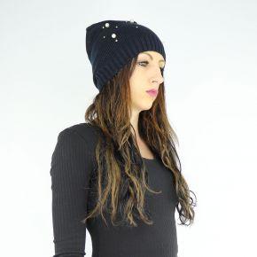 Cappello Liu Jo nero con perle N68251 M0300