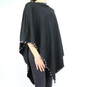 Poncho Liu Jo nero con perle N68266 M0300