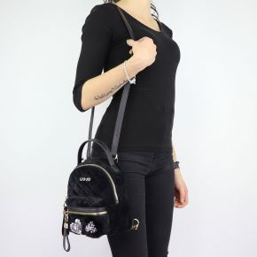 Backpack Liu Jo black velvet Brenta N68066 T9093