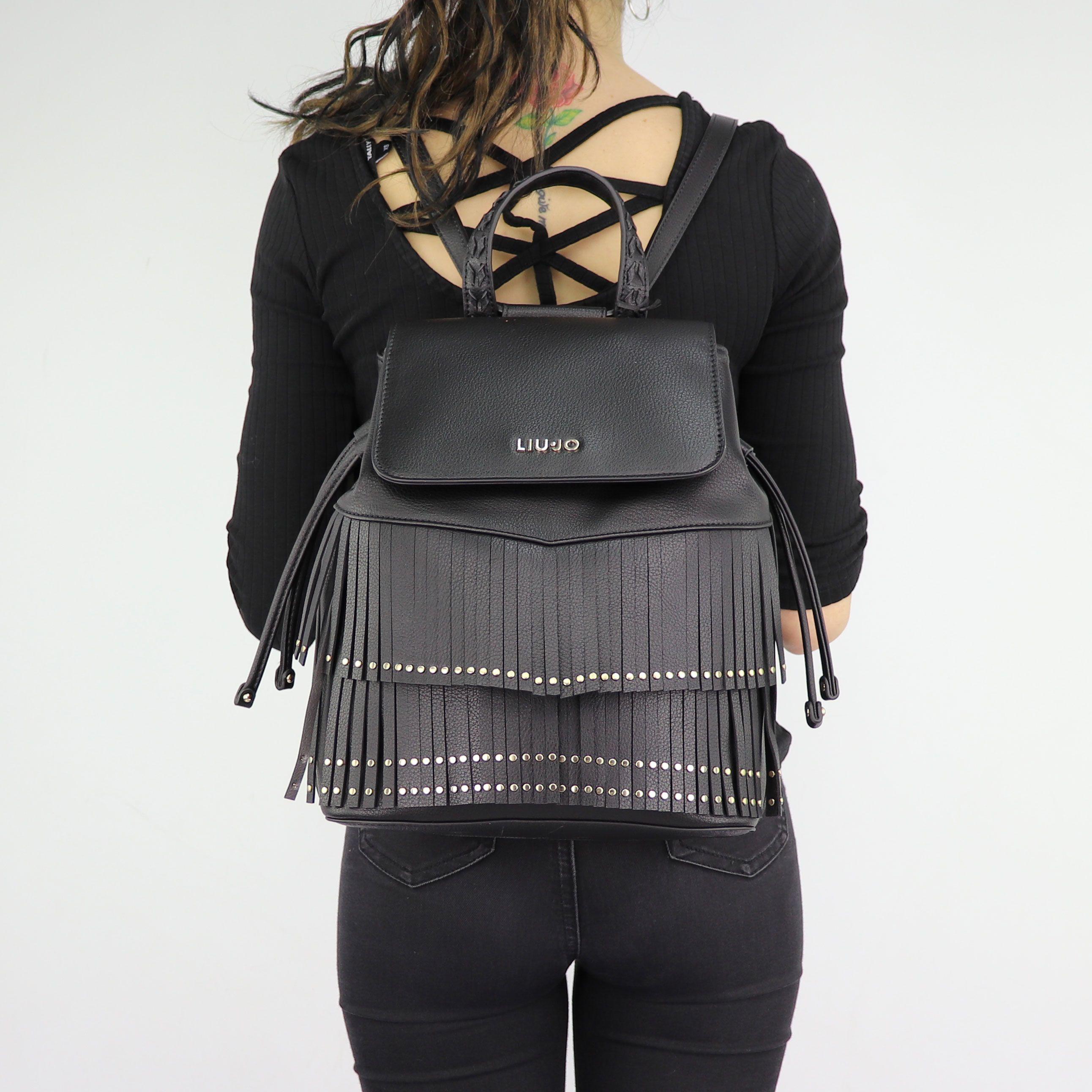 Backpack Liu Jo black Brera N68194 E0031 In More Est Store