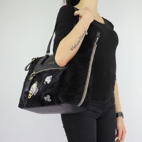 Borsa Liu Jo noir shopping velours Fourre-tout Brenta N68060 T9093