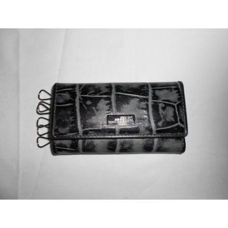 KEYCHAIN PATTE BLACK GRAY COCONUT PLAC METAL ARG CAVALLI LOGO