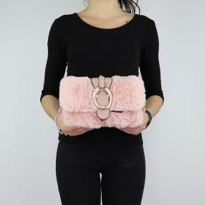 Borsa Liu Jo in pelliccetta rosa a tracolla Crossbody Darsena N68040 E0218