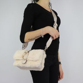 Borsa Liu Jo fur beige shoulder Crossbody Dock N68040 E0218