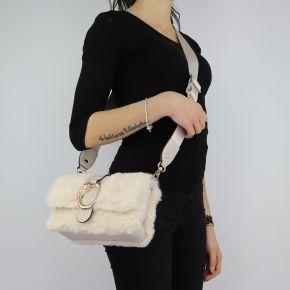 Tasche von Liu Jo in pelliccetta beige umhängetasche Crossbody Hafenbecken N68040 E0218