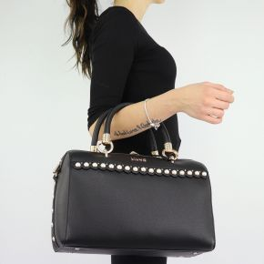 Borsa Bauletto Liu Jo nero con perle Satchel Darsena N68042 E0037