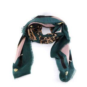 Bufanda de Liu Jo 120x120 animal verde A68247 T0300