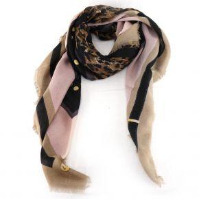 Bufanda de Liu Jo 120x120 animal beige A68247 T0300