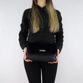 Tracolla Love Moschino trapuntata nera con pelliccia sintetica JC4300PP06KP100A