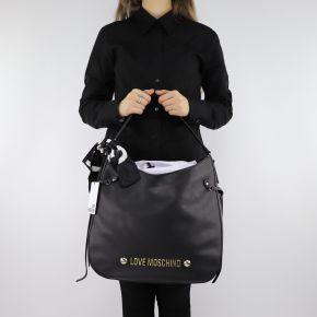 Borsa Love Moschino nera con foulard JC4311PP06KU0000