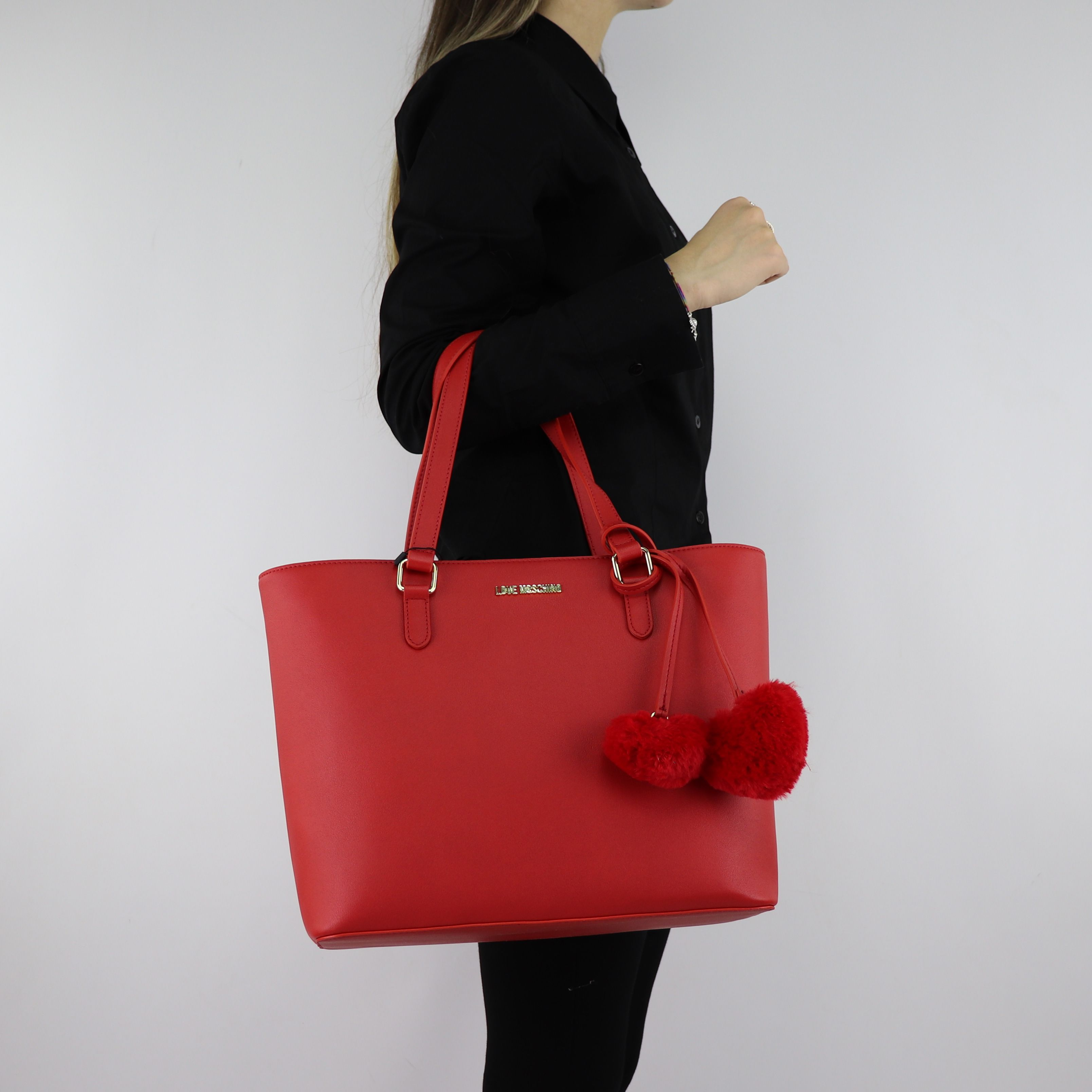 Shopping Love Moschino rossa con cuori rossi JC4322PP06KW0500 - In ... 2bb60fe5cf4