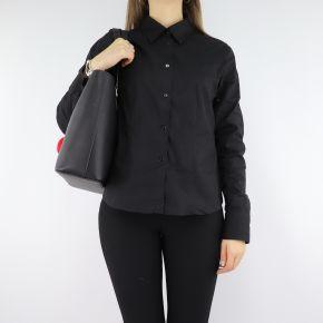 Shopping Love Moschino nera con cuori rossi JC4322PP06KW0000