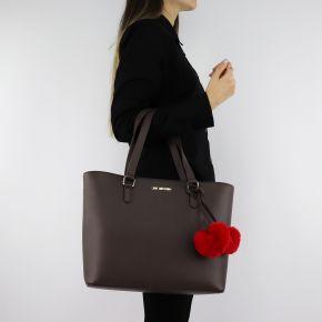 Shopping Love Moschino marrone con cuori rossi JC4322PP06KW0001