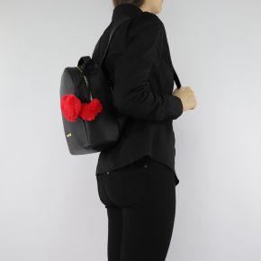 Zaino Love Moschino nero con cuori rossi JC4323PP06KW0000