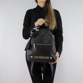 Backpack Love Moschino black scarf JC4307PP06KU0000
