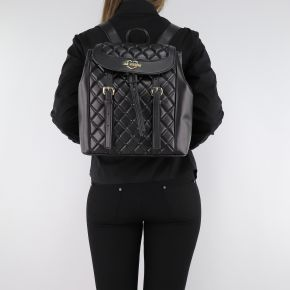 Backpack Love Moschino black quilted with buckles JC4207PP06KA000A