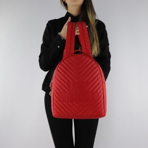 Backpack Love Moschino red quilted with embroidered logo JC4263PP06KI0500