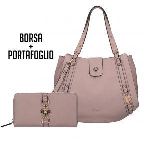 Tasche und geldbörse von Liu Jo It ' s Me Rosa Puder Werbung 2018