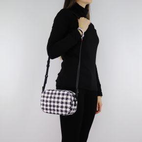 Bolso de hombro de Liu Jo en blanco y negro N68082 E0386