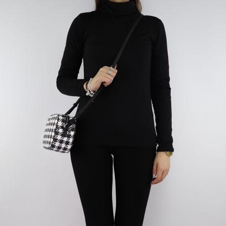 Shoulder bag Liu Jo black and white N68082 E0386