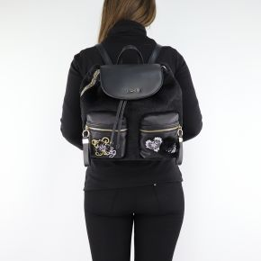 Backpack Liu Jo black velvet N68062 E0412
