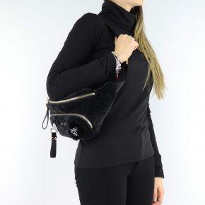 Fanny pack Liu Jo black velvet quilted N68063 T9093
