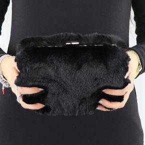 Pochette Liu Jo noir avec de la fourrure N68141 E0218
