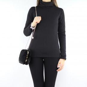 Liu Jo clutch, schwarz, mit pelliccetta N68141 E0218