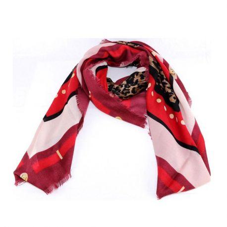 Scarf Liu Jo red 120 cm X 120 cm A68247 T0300