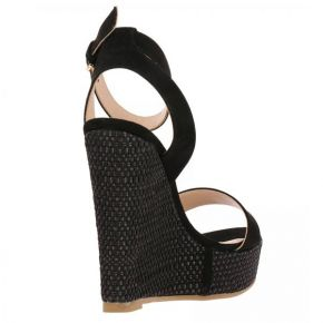 Sandal Patrizia Pepe wedge in black suede