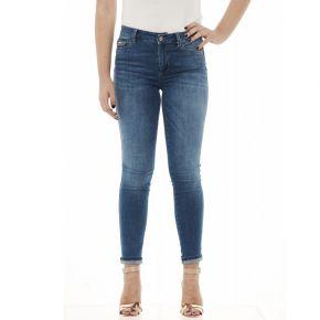 Jeans Bottom-up Liu Jo Sport Divine blu con perle