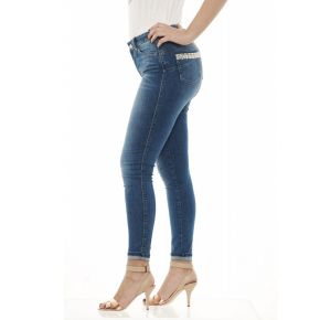 Bottom-up Jeans Liu Jo Sport Divine blue with pearls