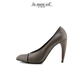 DECOLLETE' TOP TIP-PAINT THE GREY TRIM BLACK HEEL-PLASTIC-GREY