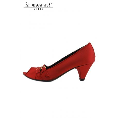 DECOLLETE' MID SPUNT RED SATIN