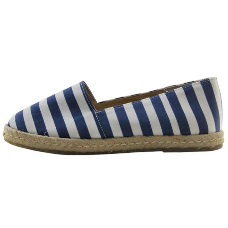 ESPADRILLES WOVEN STRIPED BLUE WHITE THE BOTTOM ROPE AND RUBBER