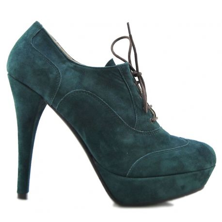 OXFORD SHOE HIGH PLATEAU GREEN SUEDE OIL
