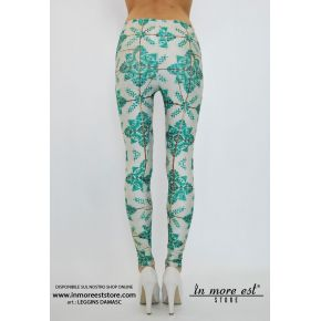 LEGGING DAMASC VERDE POLY MULTICOLOR