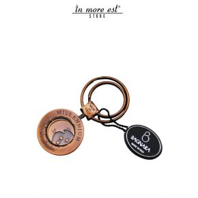 KEYCHAIN METALLIC COPPER ENGRAVING THE SIGNS OF THE ZODIAC