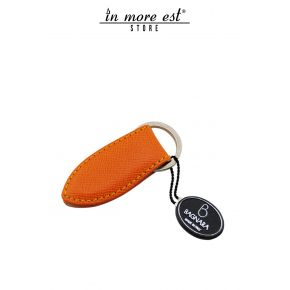 KEY RING ORANGE LEATHER MAGNET INTERNAL