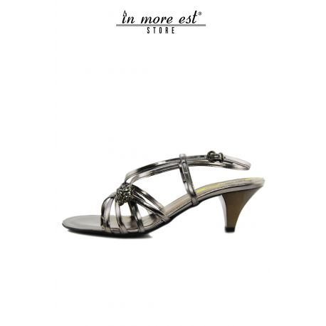 FLAT SANDAL GREY LEATHER SW