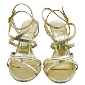 SANDAL MEDIUM ROLLED GOLD LUREX ALLAC INTREC ANKLE